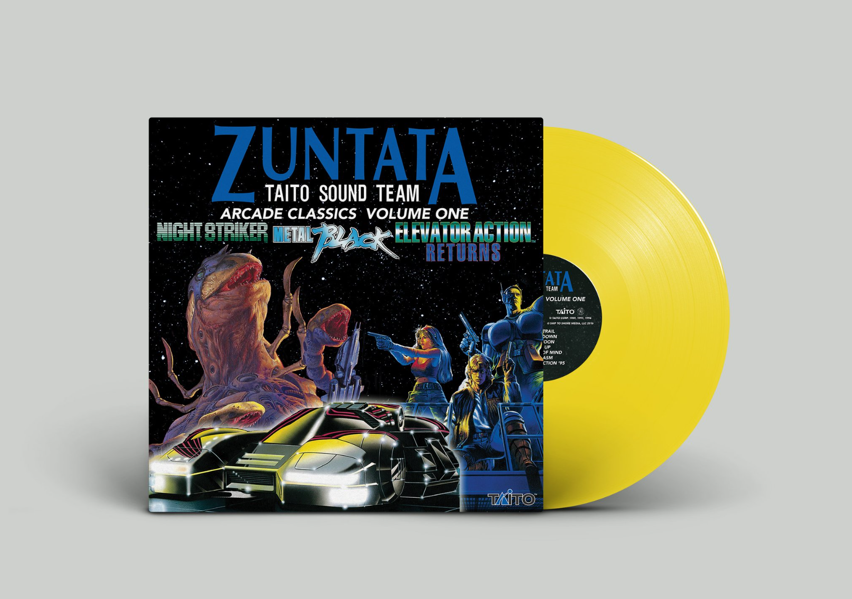 Zuntata Arcade Classics Volume One - Mockup Yellow