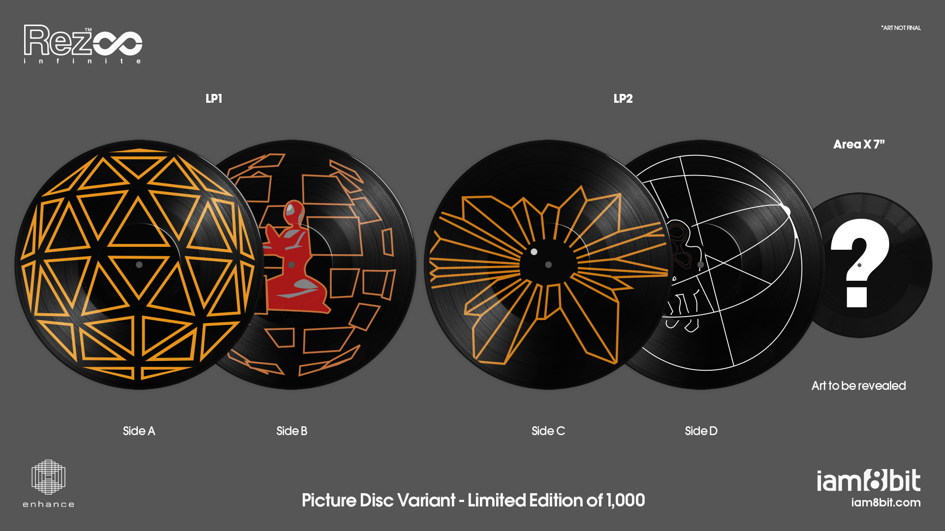 Rez Infinite - Picture Disc Mockup