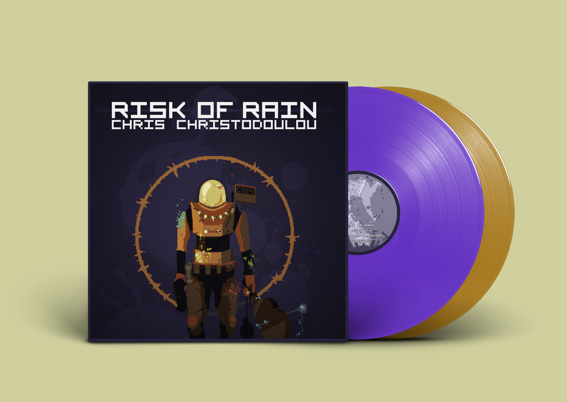 Risk Of Rain - Cover + Records Mockup