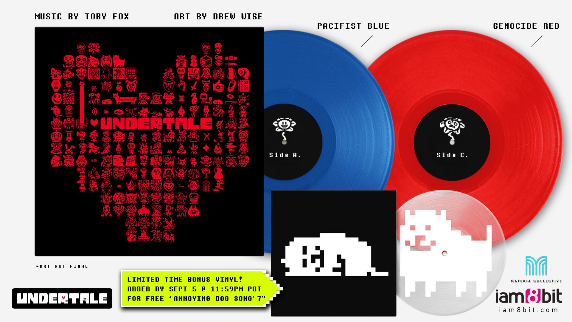 Undertale - Front + Vinyl Records Mockup