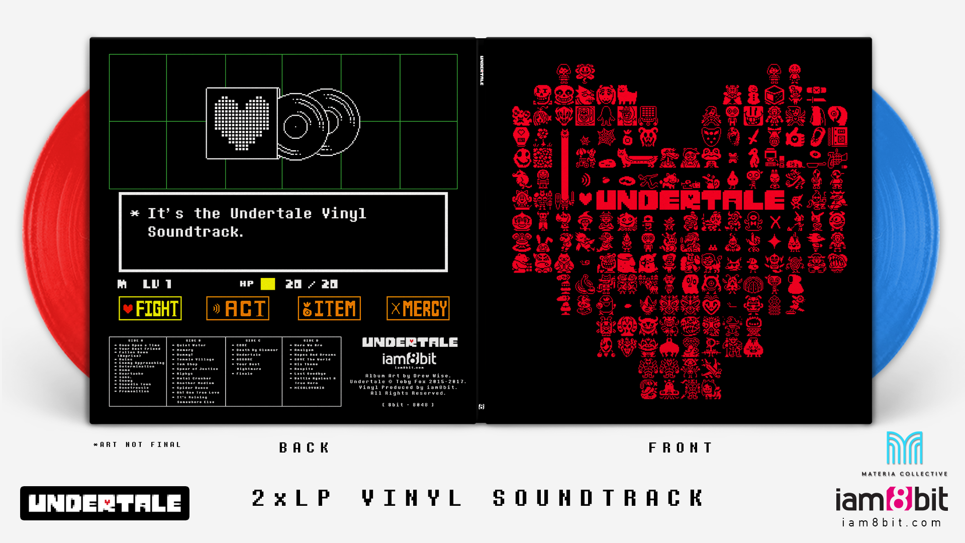 Undertale - Front + Back Cover Mockup