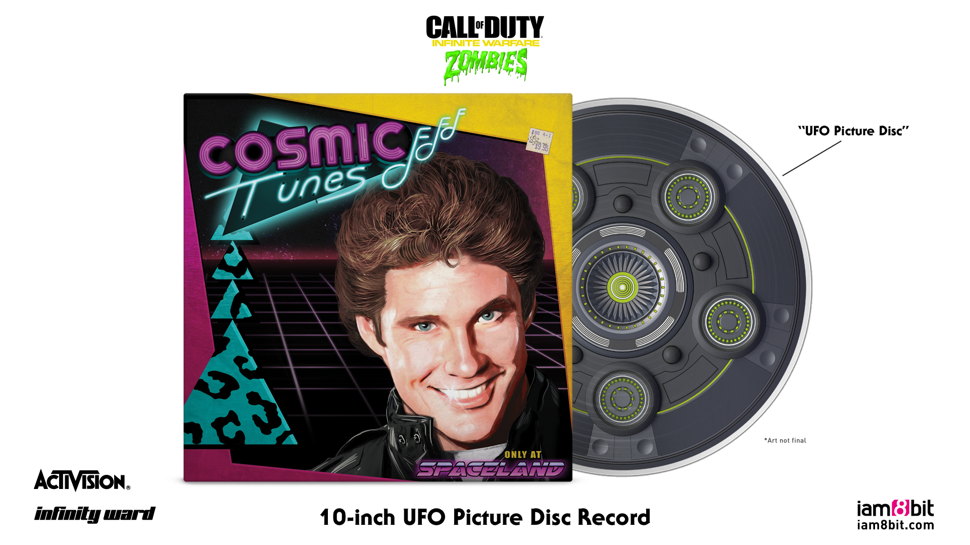 Cosmic Tunes - Front + Record Mockup
