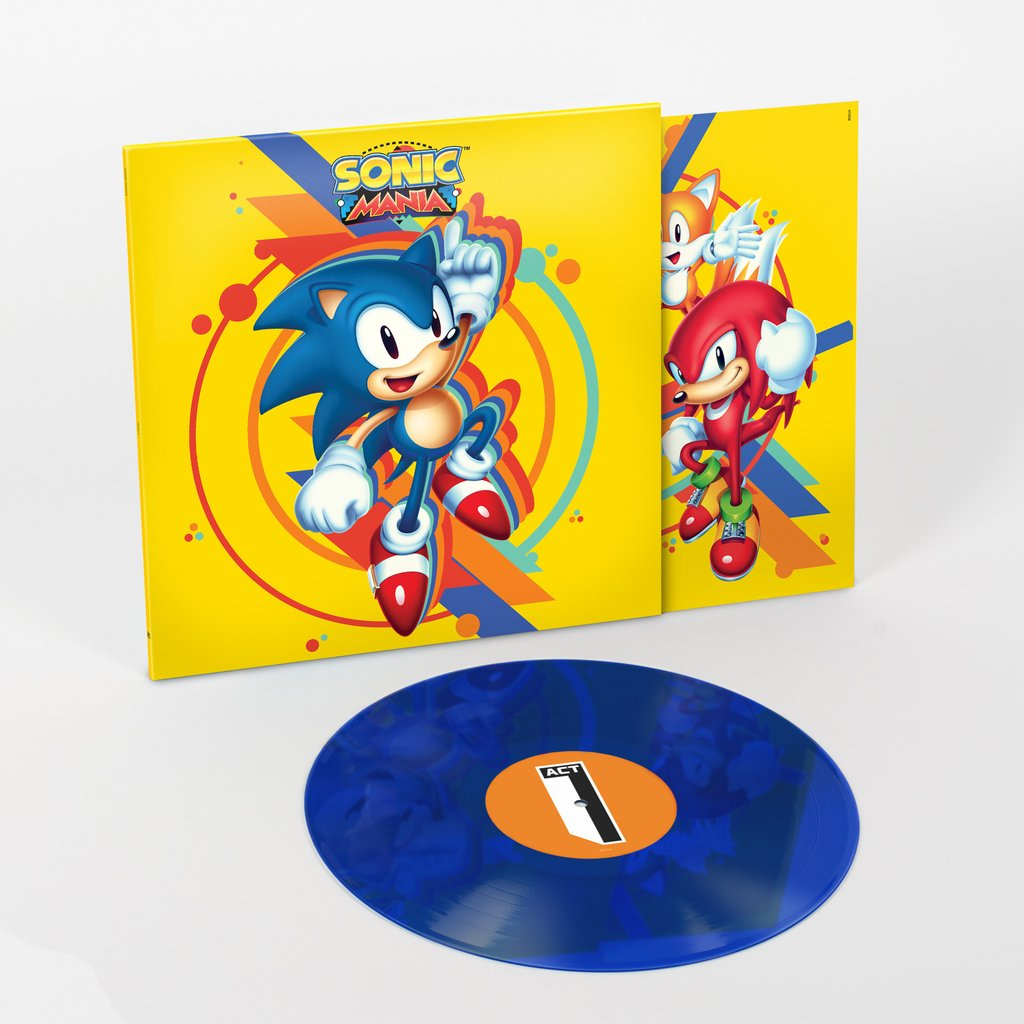 Sonic Mania - Front Cover + Blue Vinyl