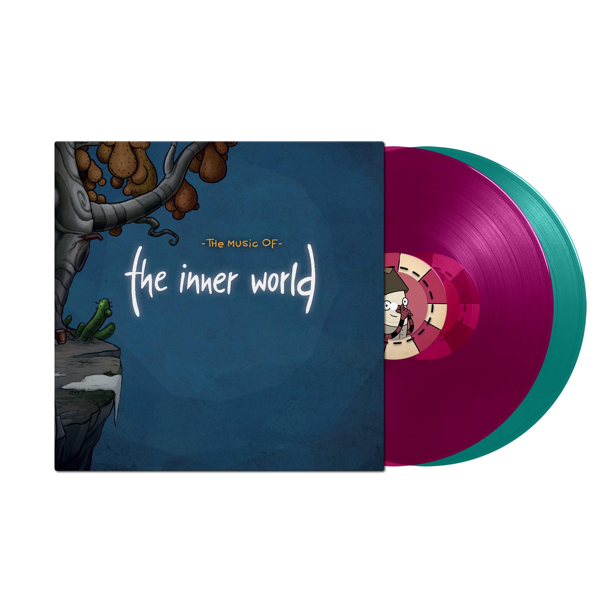 The Inner World - Front Cover + Colored Records