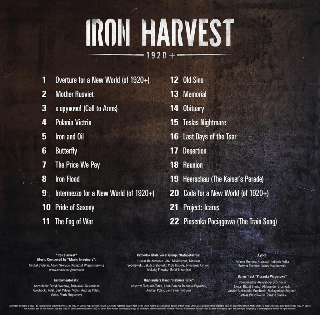 Iron Harvest - Tracklist