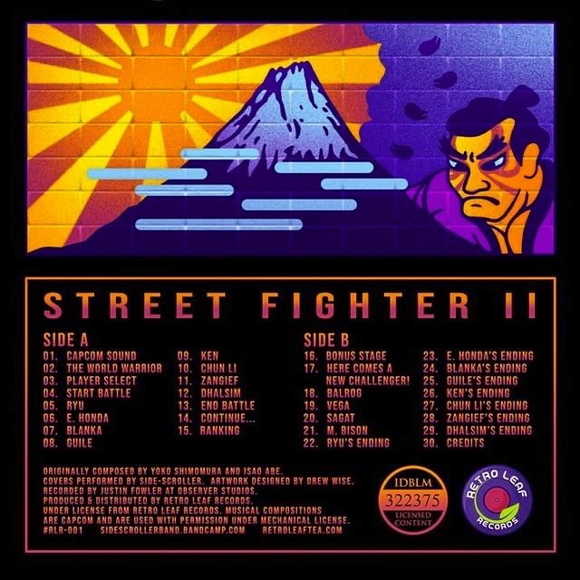 Street Fighter II Cover - Back